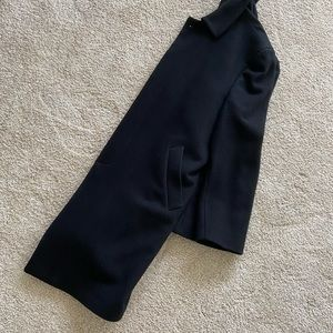 Black Wool Overcoat and Scarf